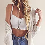 LookbookStore Sexy Strappy Caged Back Sweetheart Neckline Women's Crop Top Tank White US 4