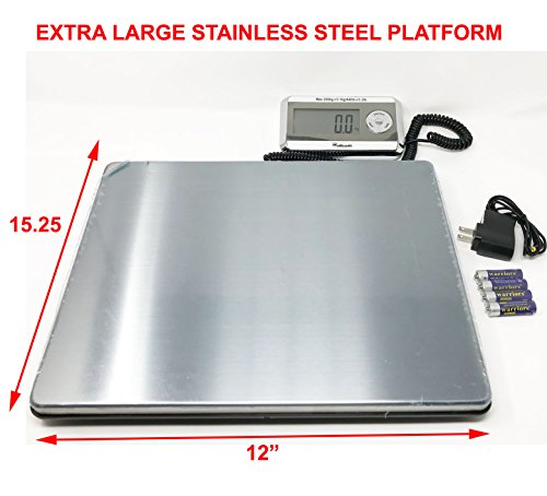 (Weighology Heavy Duty Digital Postal Parcel Scale UPS USPS Post Office Scale (440 Lb Large Stainless Steel Platform))