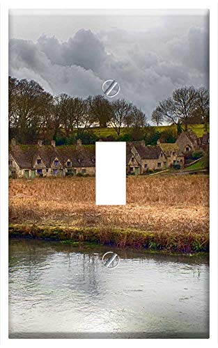 Switch Plate Single Toggle - Cotswolds Village English England Uk ()