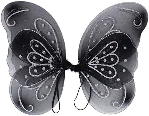 バタフライ ウィング ブラック コスプレ 妖精 蝶 ちょう ファンタジー ちょうちょ コスチューム ファンシー 羽 女の子 レデ