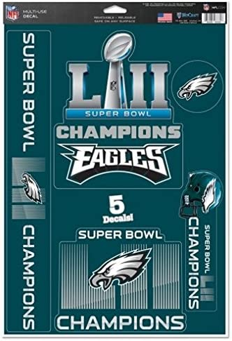 qualityprint Philadelphia Eagles Set of 4 NFL Football Car Bumper Stickers Decals 5 Longer Side