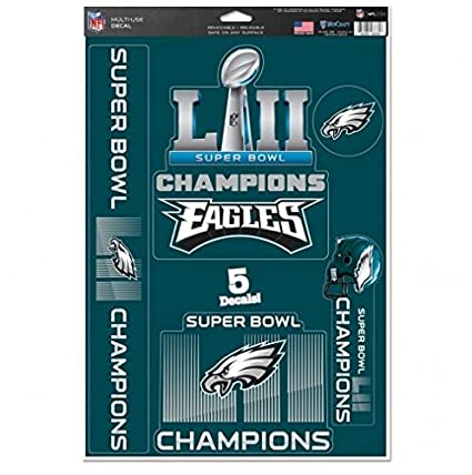 Image Unavailable. Image not available for. Color  NFL Philadelphia Eagles  Super Bowl LII Champions Decals ... 4593a5579