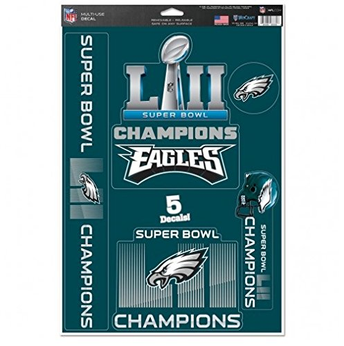 NFL Philadelphia Eagles Super Bowl LII Champions Decals 11 x 17-inches
