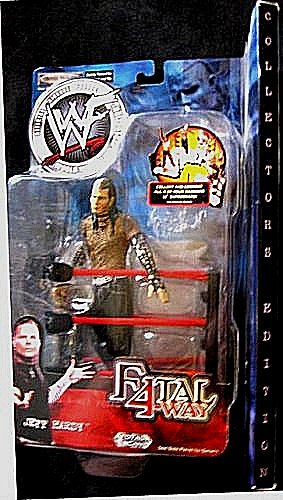 Jeff Hardy WWF Wrestling Fatal 4-way Collectors Edition Action Figure with Ring Accessory by Jakks by Jakks Pacific