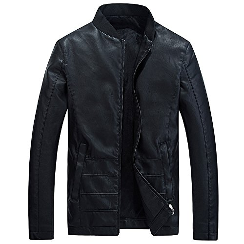 Faux Faux Faux MEI velluto inverno amp;S Biker pelle Black Giacca di cartella Uomini in caldo Cappotto znqzwarW0