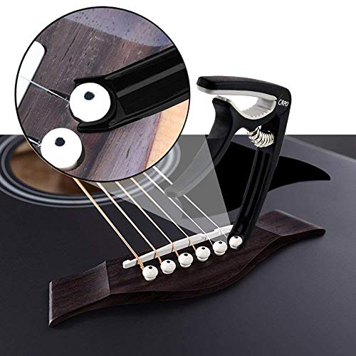 Naad-NS-52-Metal-Capo-Black-Guitar-Capo-For-Ukulele-Electric-Acoustic-6-String-and-Classical-Guitar-with-Bridge-Pin-Remover