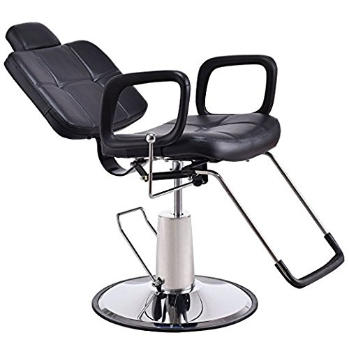Barber Chair, Hydraulic Barber Styling Chair Hair Beauty Salon Equipment (Black) by Gentle Shower