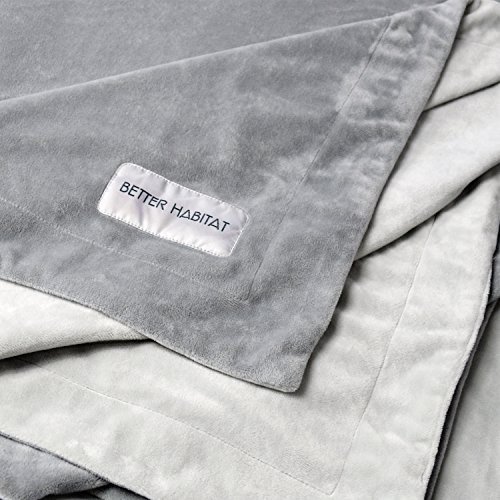 Better Habitat [NEW] Premium Micro Plush Lounge & Travel Blanket. [Twin size throw, ultra soft, shed resistant, reversible]