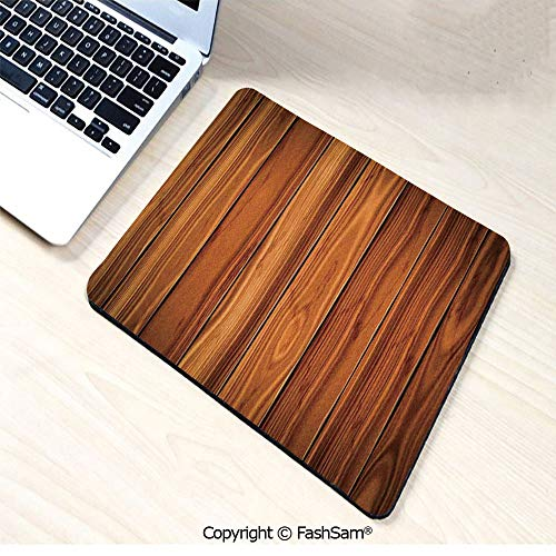 Non-Slip Rubber Mouse Pads Tall Decorative Bound Wood Line Timber Trunk Red Maple Stem Birch Branch Image for Computers Laptop Office(W7.8xL9.45)