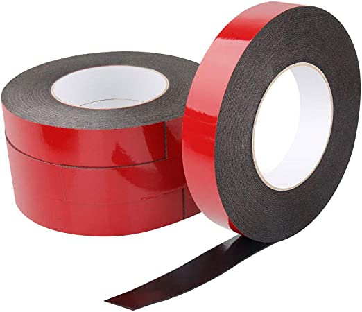 5m Length Double Sided Tape Red Self Adhesive Sticky Super Strong NEW 12mm
