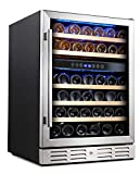 Kalamera 24'' Wine Fridge 46 Bottle Dual Zone Built-In & Freestanding Deal (Small Image)