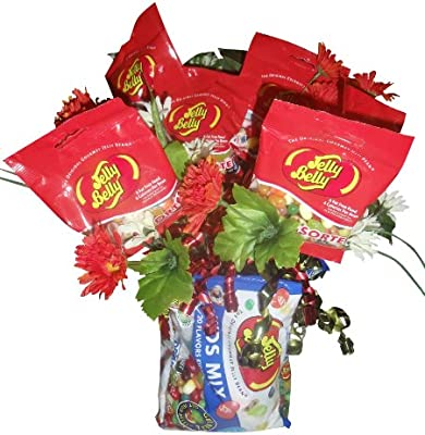 Amazon.com : Jelly Belly ~ Jelly Bean Bouquet ~ Gourmet Gift Basket : Gourmet Candy Gifts : Grocery & Gourmet Food
