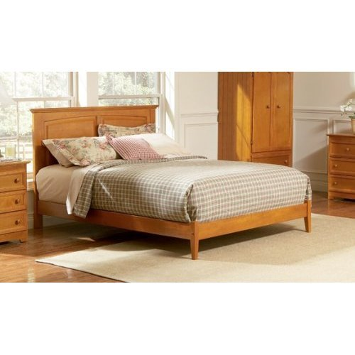 Atlantic Furniture Monterey Platform Bed with Open Footrail in Caramel Latte - (Furniture Monterey Twin Platform)