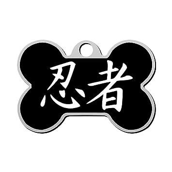 Amazon.com: gctck Ninja Pet ID Etiqueta de perro grabado ...