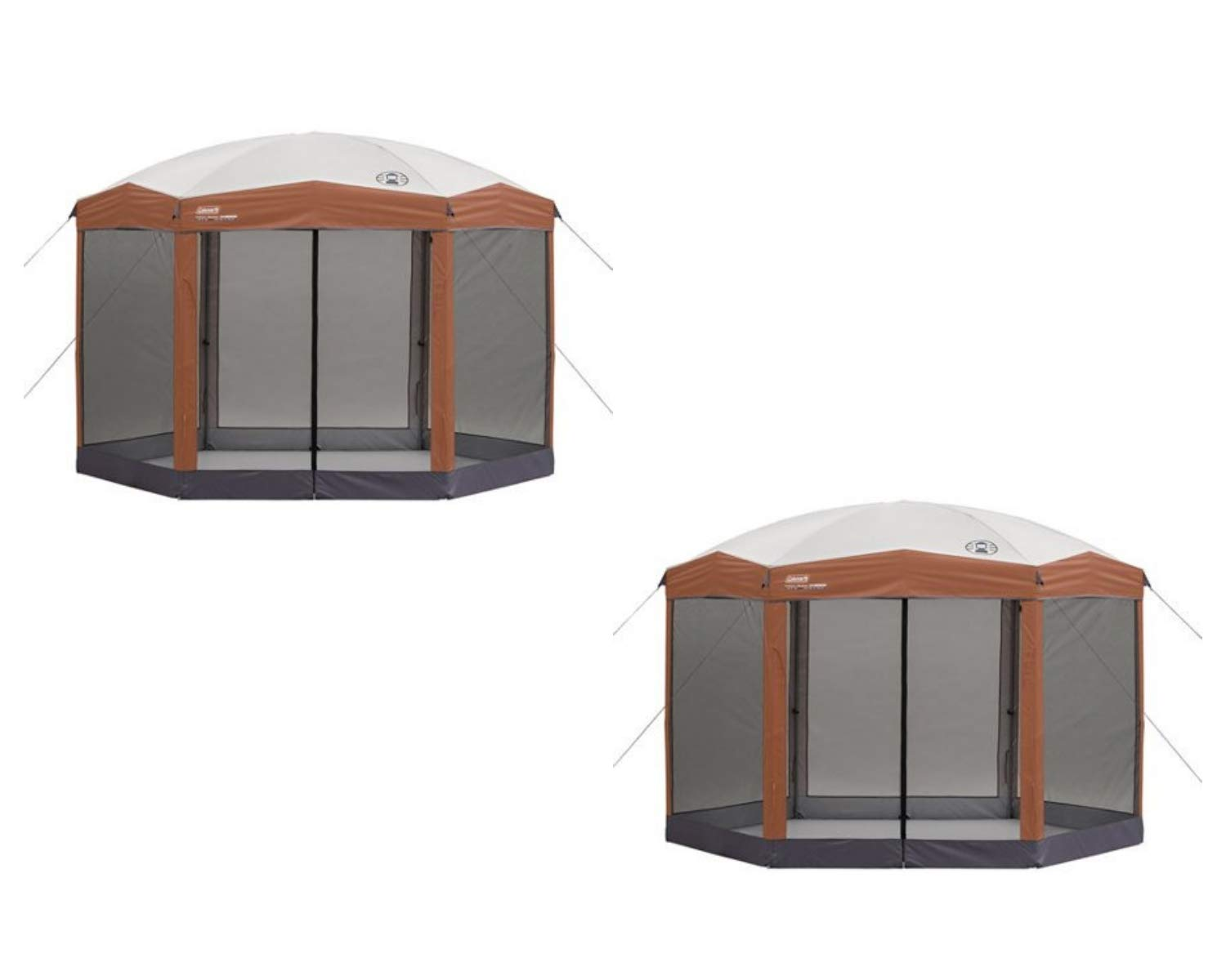 Coleman Screened Canopy Tent with Instant Setup | Back Home Screenhouse Sets Up in 60 Seconds (Brown, 2 Count)