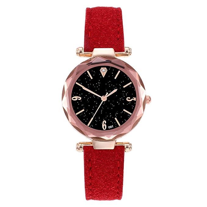 BBestseller Relojes de Pulsera para Mujeres,Moda Accesorios Watches Pulsera Actividad Relojes Mujer Deportivos (Rojo): Amazon.es: Relojes