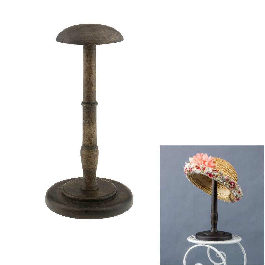 SODIAL Vintage Wooden Hat Holder Wig Holder Display Stand Display Stand