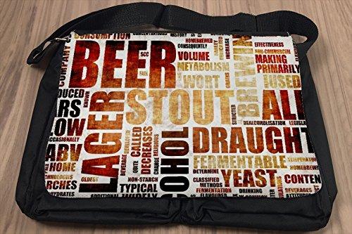 Umhänge Schulter Tasche Bier Retro Biersorten bedruckt Partykeller Fun