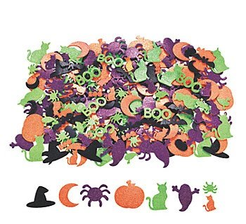 - 500 Assorted HALLOWEEN Glitter Foam Craft Stickers/Self-AdhesiveShapes/Craft Supplies/Scrapbooking/Party Supplies