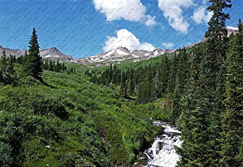 (Conundrum Creek in Maroon Bells Wilderness Colorado 500 Piece Jigsaw Puzzle 20.6 X 15.1'' Wooden Puzzle)