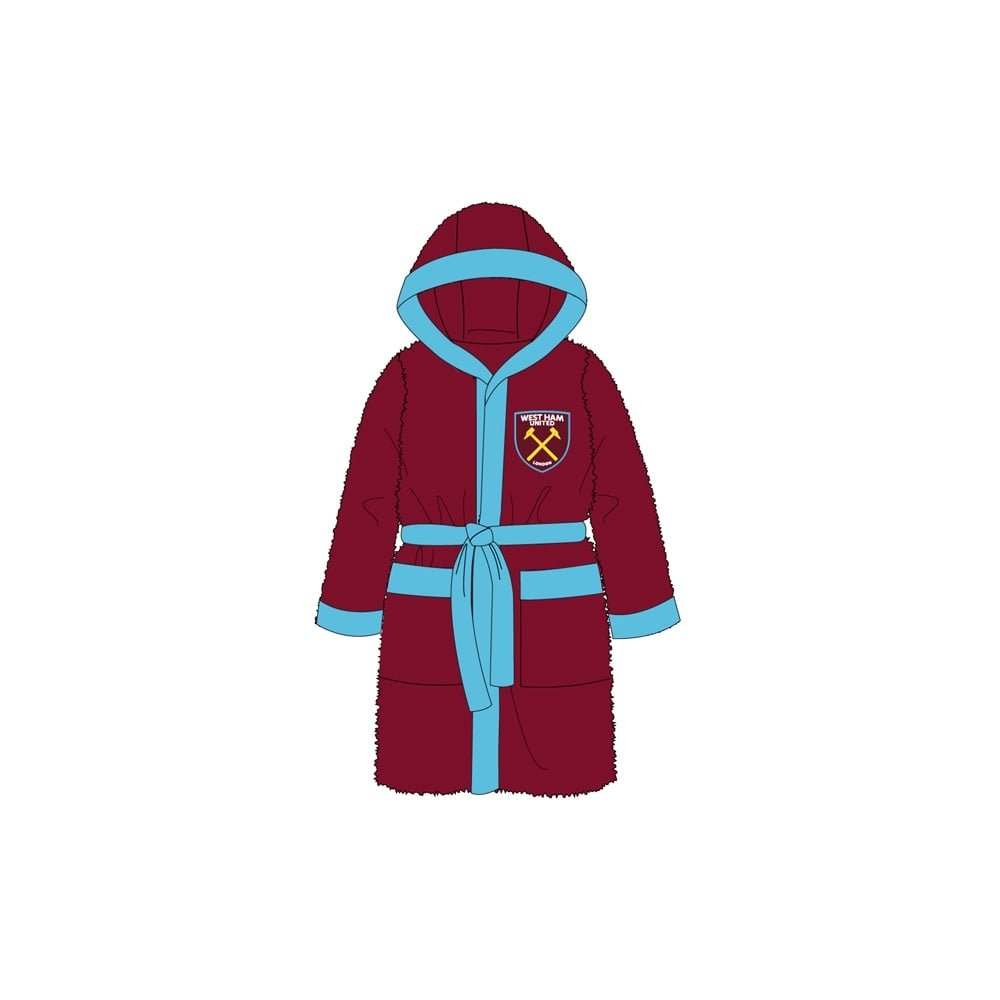 Official Football Team Kids Bath Robe West Ham United 12/13 Official Football Merchandise