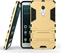 Chevron Military Grade Version 2.0 With Kick Stand Hybrid Rugged Armor Back Case Cover For Xiaomi Redmi Note 4 - Metal Grey