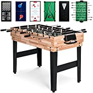 Best Choice Products 2x4ft 10-in-1 Combo Game Table Set w/Pool, Foosball, Ping Pong, Hockey, Bowling, Chess, a