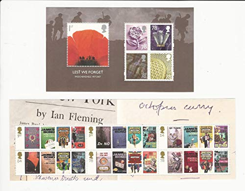 Great Britain, Postage Stamp, 2530a, 2536a Mint NH, 2008 James Bond, JFZ