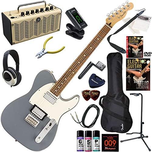 FENDER エレキギター 初心者 入門 メキシコ製 フィーリングとスタイル、サウンドの三拍子揃ったテレキャスター。2H構成。 レトロなデザインで多機能・高音質のYAMAHA THR5が入ってる大人の19点セット Player Telecaster HH/SLV/PF(シルバー/パーフェロー指板)