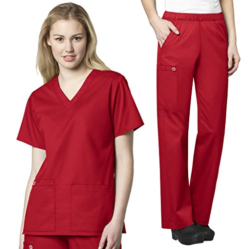 WonderWink Womens Scrubs V Neck Pocket