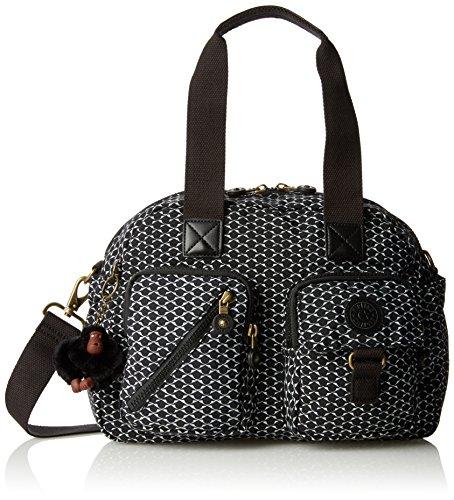 Defea Women��s Handle Multicolour Monochrome Pr Top Bag Kipling d5w1xdq
