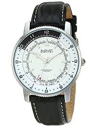 August Steiner Men's AS8124SS Analog Display Swiss Quartz Black Watch