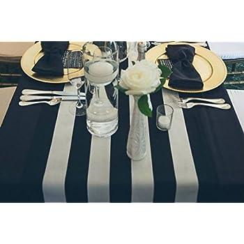 Lovemyfabric Poly Cotton 2 Inch Striped Table Runner For Wedding/Bridal  Shower Birthdays Home Decor