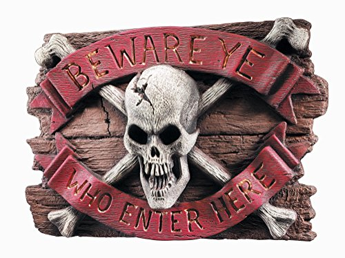 [Rubie's Skull Wall Plaque Decoration] (Halloween Decorations New York)