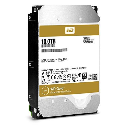 Western Digital Gold 10TB Datacenter Hard Disk Drive Class SATA 6 Gb/s 7200 RPM 256MB Cache 3.5-Inch Form Factor (WD101KRYZ)