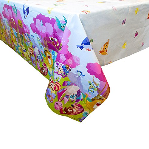 Unique Industries Animal Jam Party Supplies Plastic Tablecover (1) -