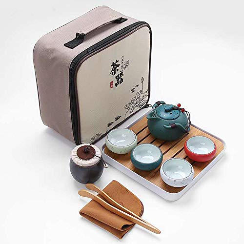 VanEnjoy Kung Fu Tea set Chinese Tea Set Chinese Japanese Style Traditional Ceramic Gifts with Travel Bags