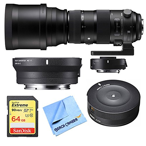 Sigma 150-600mm F5-6.3 Sports Lens and TC-1401 1.4X Teleconverter Kit for Canon includes Bonus Sigma Mount Converter for Canon Lenses and More