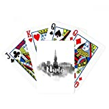 Naples Italy Landmark Ink City Painting Poker Playing Cards Tabletop Game Gift