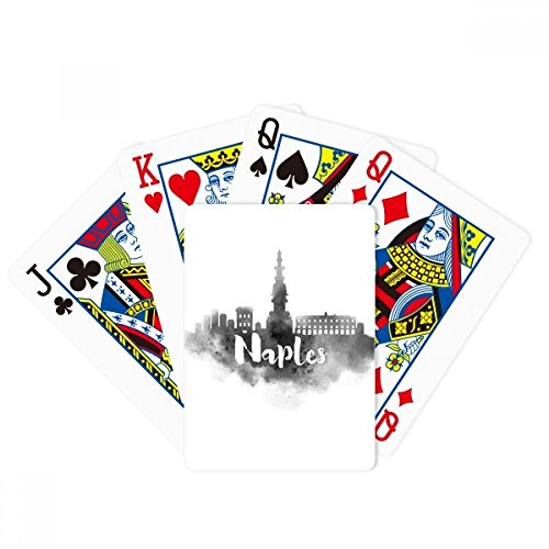 Naples Italy Landmark Ink City Painting Poker Playing Cards Tabletop Game Gift by beatChong