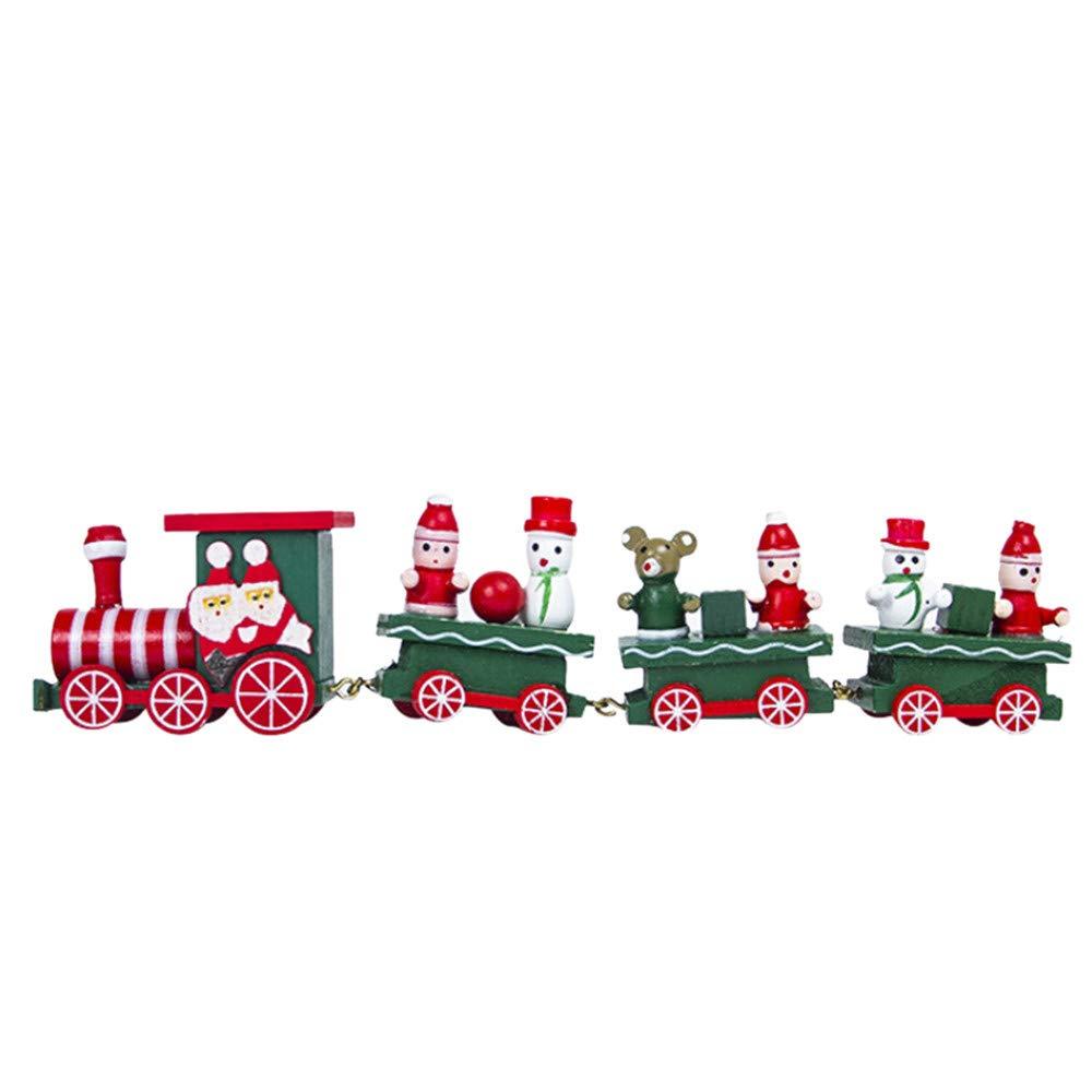 Bellelove〗Weihnachtshölzerner Zug, Kinder Lego-Spielzeug ...