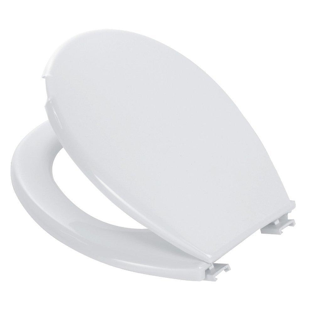 takestop Toilet Seat White Plastic Universal Tablet Mug Furniture for Bathroom Toilet Seat Water Pot Made Italy MOON 10011650