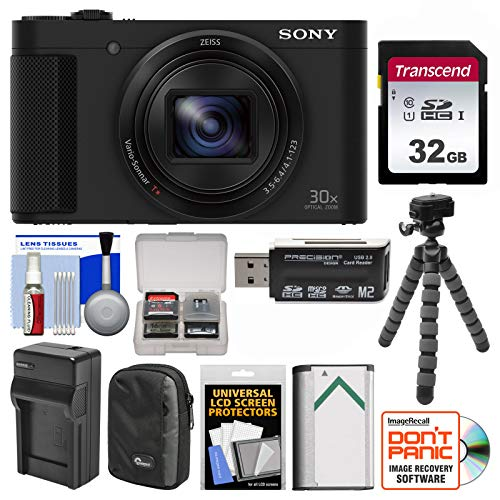 Sony Cyber-Shot DSC-HX80 Wi-Fi Digital Camera with 32GB Card