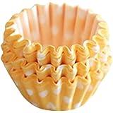 Sanwood Mini Paper Baking Cups Liner Muffin Cupcake (Yellow)