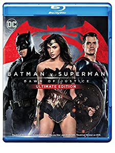 Cover Image for 'Batman v Superman: Dawn of Justice (Ultimate Edition Blu-ray + Theatrical Blu-ray + DVD + Digital HD UltraViolet Combo Pack)'
