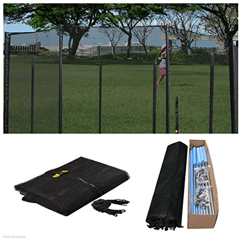 New 16 FT Trampoline Enclosure Safety Net Fence Round Replacement W/10 Poles from Unknown