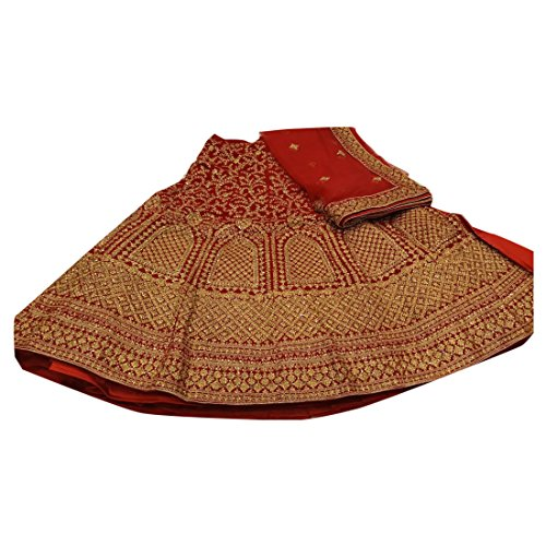 - Red Wedding Designer Heavy Zari Bridal Collection Lehenga Chaniya Choli Dupatta Custom to Measure Indian Ethnic Wear 2834