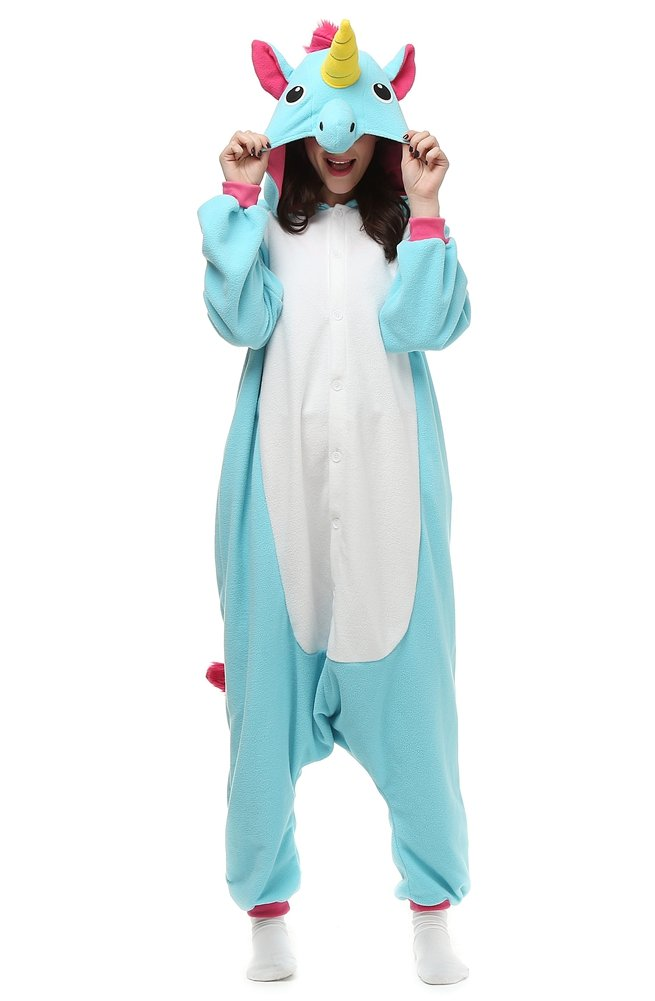 Mybei Adults Unisex Unicorn Onesie Pajamas Animal Costume Sleepwear for Adult S
