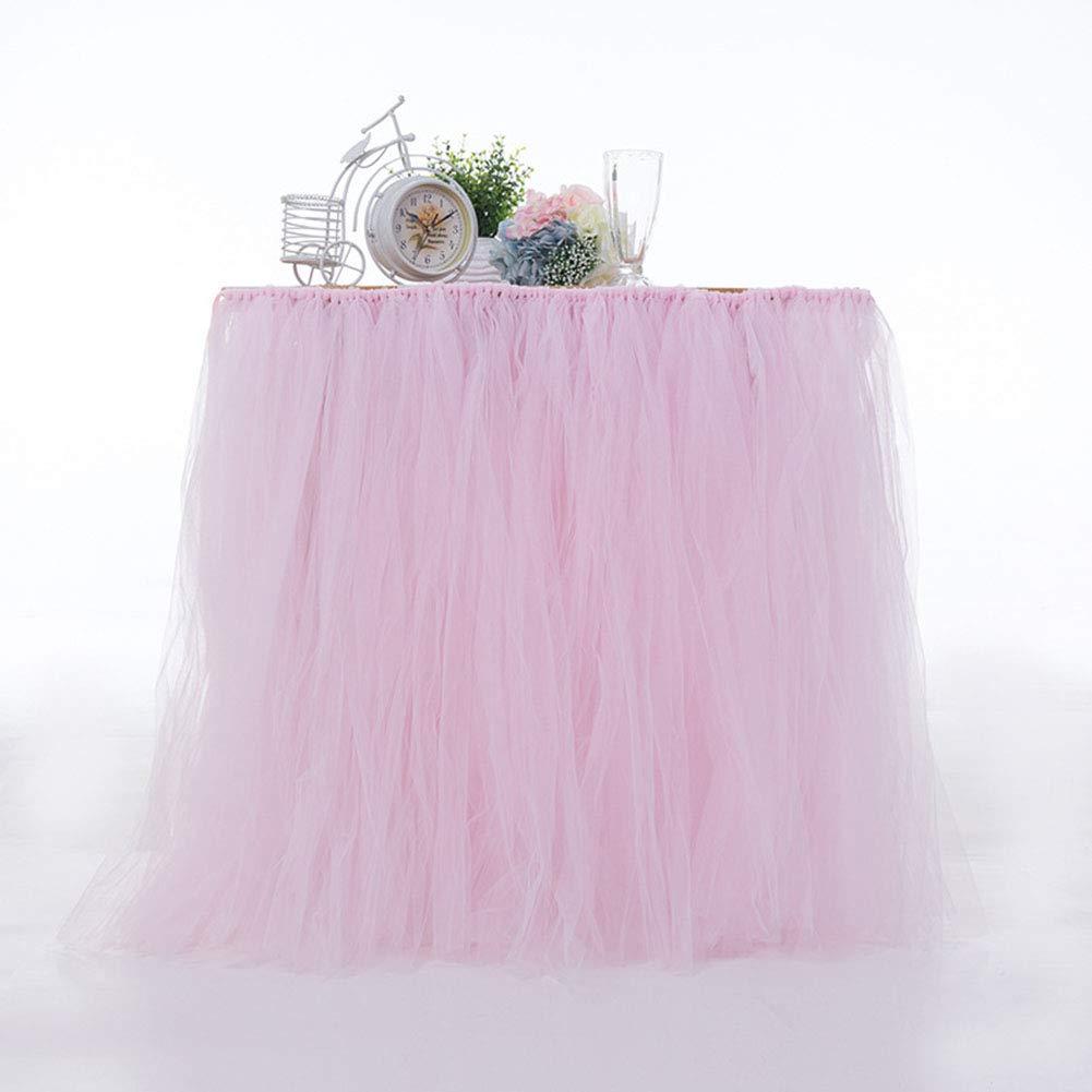 IRISH Tutu Tulle Skirt Table Skirt Chiffon, Tablecloth Gauze Romantic Net yarn, Tableware Cover Cloth Wedding Party, Baby Shower Lace Birthday Party Decoration, Bar Valentine's Day Christmas