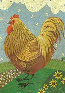 Toland Home Garden Crackled Hen 12.5 x 18-Inch Decorative USA-Produced Garden Flag